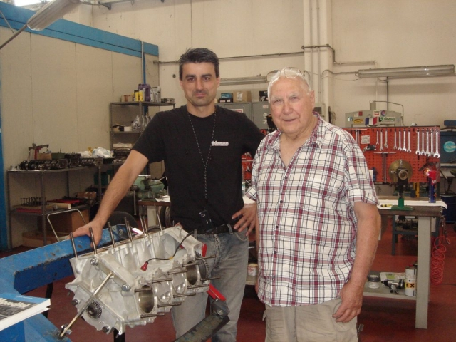 Mr. Renato Armaroli one of the best Italian racing engineer