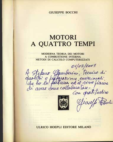 Dedication from -Ing-Giuseppe-Bocchi to Gamberini